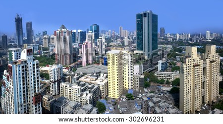 Mumbai financial capital of India skyline