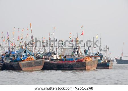 Mumbai Harbor (India) - stock photo
