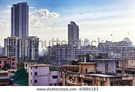 MUMBAI in INDIA,  High Dynamic Range (HDR) Image of Mumbai in India. - stock photo