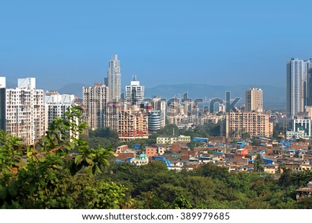 Mumbai, INDIA - December 4 : Mulund is a suburb of Mumbai one of earliest planned suburb on the outskirts of Mumbai city , on December 4,2015 Mumbai, India - stock photo
