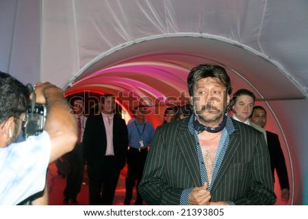MUMBAI - MAY 7: Bollywood actor Jackie Shroff arrives at the launch of Kingfisher Airlines 7 May, 2005 in Mumbai, India - stock photo