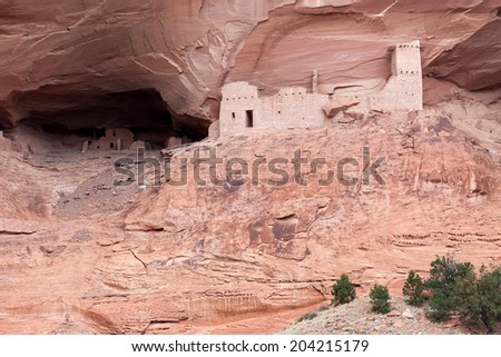Mummy Cave ruins Canyon del Muerto - stock photo