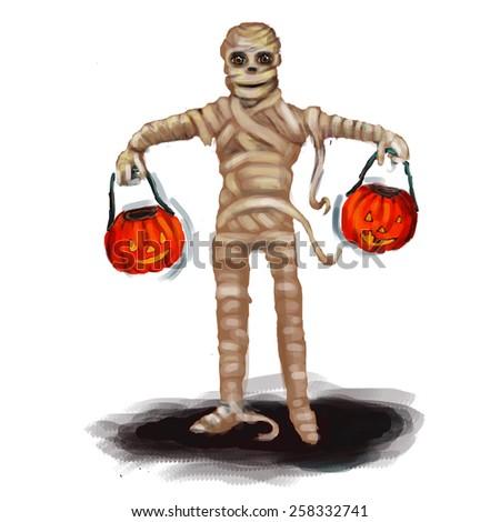 mummy for Halloween - stock photo