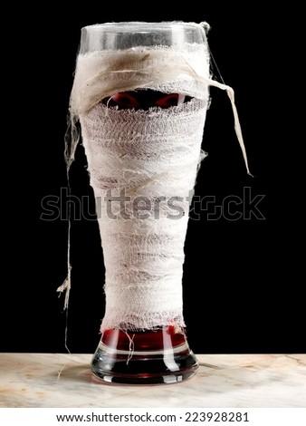 Mummy Halloween cocktails - stock photo
