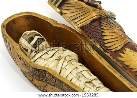Mummy in a Casket - stock photo