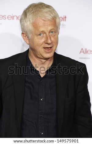 MUNICH - AUG 10: Richard Curtis at the screening of 'About Time' at the Kino am Olympiasee on August 10, 2013 in Munich, Germany - stock photo