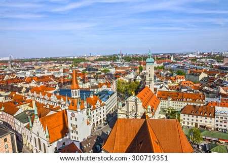 Munich, Bavaria, Germany. Old Town architecture