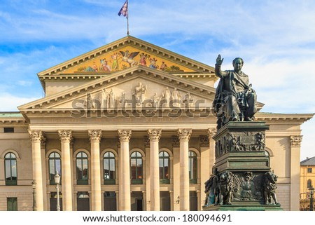 Munich, Bavarian State Opera / Bayerische Staatsoper, Germany - stock photo
