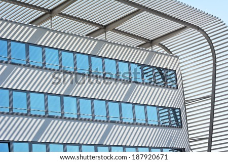Munich Bus Station as Example of Abstract Architectural Elements - stock photo