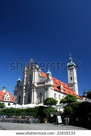 Munich church - stock photo