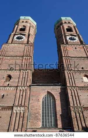 Munich: Church of Our Lady - Frauenkirche ........... - stock photo