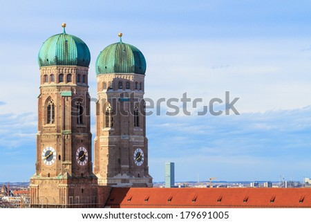 Munich, Frauenkirche, Cathedral of Our Dear Lady, Bavaria, Germany - stock photo