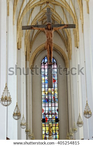 MUNICH, GERMANY - AUGUST 3, 2015: Interior of Frauenkirche, Munich, Germany. - stock photo