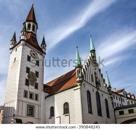 Munich, Germany. Capella in Historical center of city - stock photo