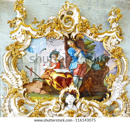 Rococo style stock photos images pictures shutterstock for Rococo decorative style