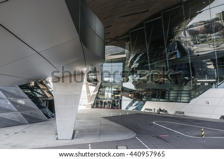 Munich, Germany - March 10, 2016: BMW Headquarters in Munich