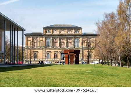 Munich, Germany- March 26, 2014: The Alte Pinakothek (Old Pinacotheca) is an art museum located in the Kunstareal area in Munich, Germany
