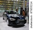MUNICH, GERMANY - OCTOBER 31: BMW Motor Show on October 31, 2011 in BMW Welt in Munich, new BMW 1 Series - stock photo