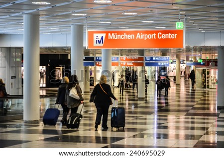 MUNICH NOVEMBER 27: International airport on November 27th, 2014 in Munich, Germany - stock photo