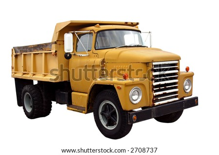 Municipal Dump Truck isolated on a white background - stock photo