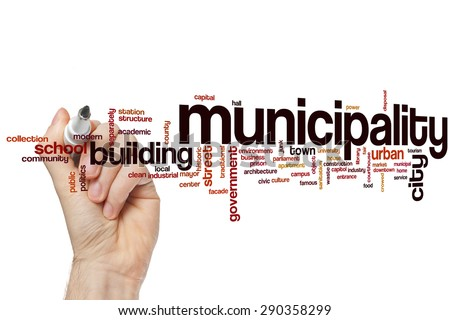 Municipality word cloud concept - stock photo