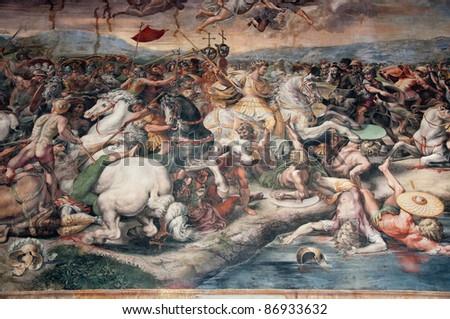 mural in vatican - stock photo