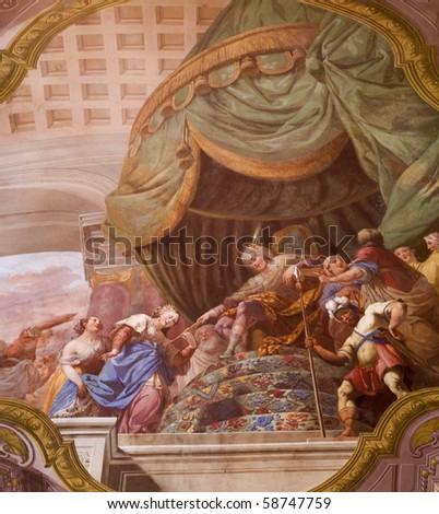 mural paint - stock photo
