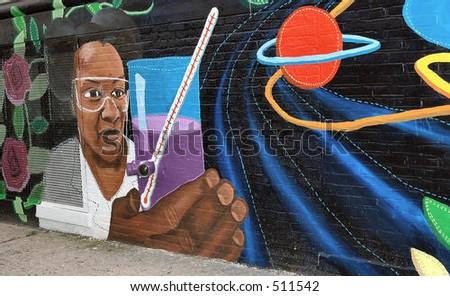 Murals - stock photo