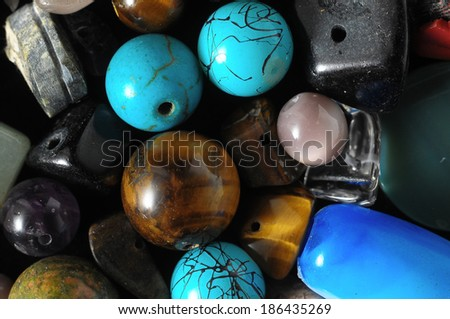 Murano Glass Stones Ready to Make Handmade Jewelry - stock photo
