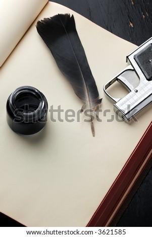 murder mystery setup - stock photo