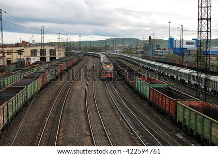 Murmansk, Russia - June 2015 : the station Murmansk October railway in Murmansk. The Murmansk.