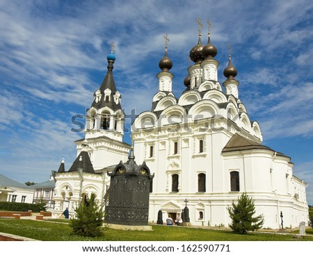 MUROM, RUSSIA - JUNE 16: Annunciation cathedral of Annunciation orthodox monastery on June 16, 2013 in Murom, Russia, monastery exists from 1553, cathedral has been built in 1889.