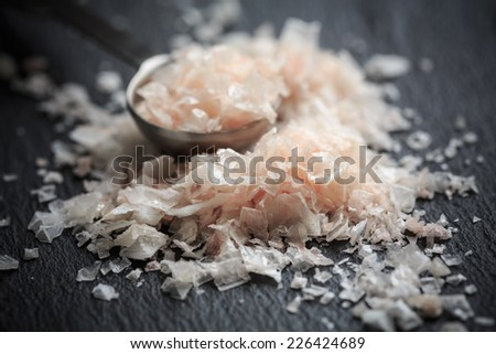 Murray River Gourmet Salt Flakes - stock photo