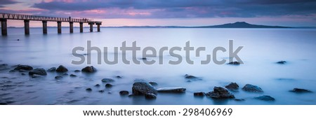 Murrays Bay at Sunset | Auckland, NEW ZEALAND - stock photo