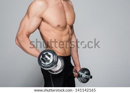Muscle man - stock photo