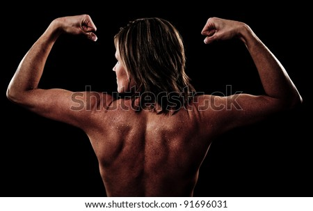 Muscles of a Woman's Back and Arms - stock photo