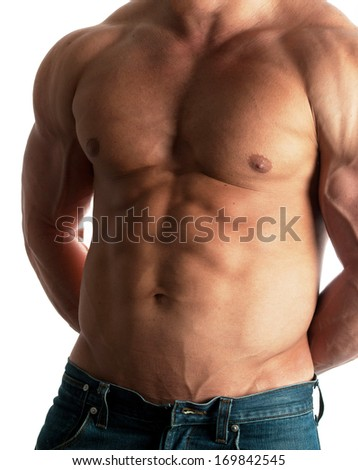 Muscular male - stock photo