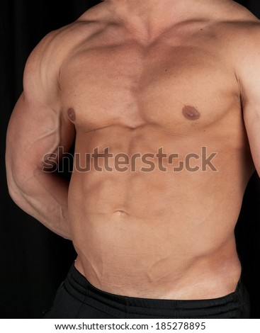 Muscular male torso  - stock photo