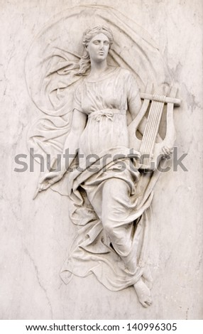 Muse classic statue - stock photo