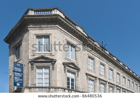 Musee Histoire Naturelle located at Bordeaux, France - stock photo