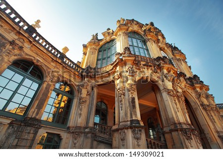 Museum building in Dresden in a sunny day, Germany - stock photo