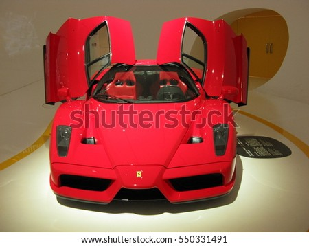 museum casa enzo ferrari modena italy on july 2014 red sport luxury old - Ferrari 2014 Enzo
