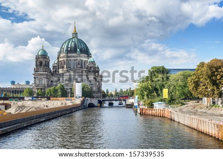 Museum island and Berliner dom - stock photo