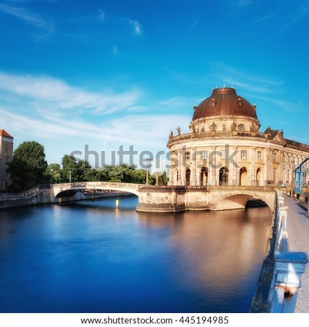 Museum island in Berlin on river Spree early afternoon - stock photo