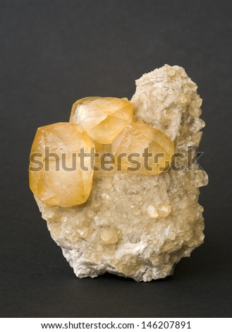 MUSEUM MINERAL SERIES: Calcite from Spain. 9cm high.