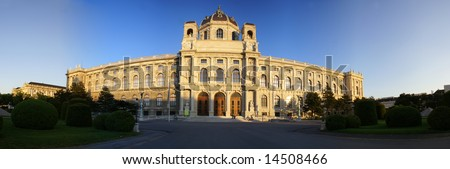 Museum of fine arts and of the history of fine arts on Maria Theresia Square in Vienna, Austria