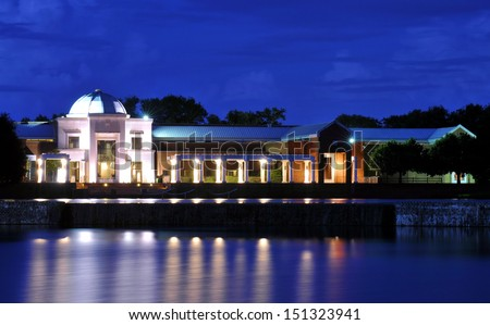 Museum of Fine Arts in Montgomery, Alabama / Museum Lights - stock photo