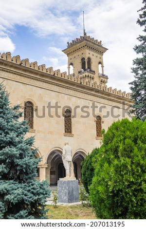 Museum of Joseph Stalin in Gori, the birth town of Stalin. Joseph Stalin was the leader of the Soviet Union from the 1920s until in1953. - stock photo
