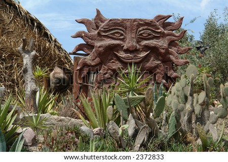 Museum Sitio Inti Nan, Mitad del Mundo, Ecuador, South America - stock photo