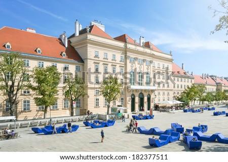 Museumsquartier  Vienna, Austria - stock photo